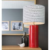 "26.75""H Kris Ruff by River of Goods Brooklyn Ceramic Table Lamp - 14""L x 14""W x 26.5""H"