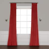 "Exclusive Fabrics Heritage Plush Velvet Curtain 96"" in Cinema Red (As Is Item)"