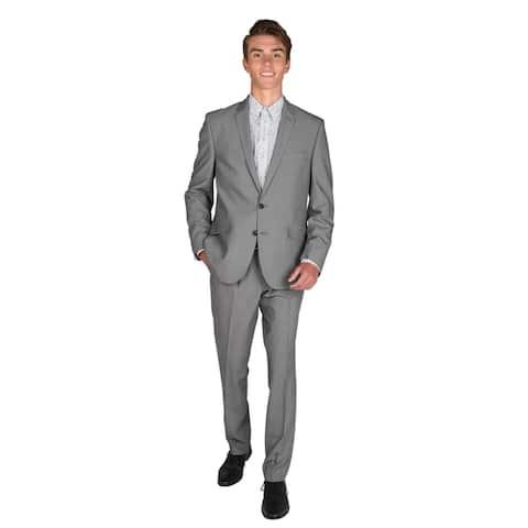 """Billy London 32"""" Finished Bottom Light Grey Suit"""