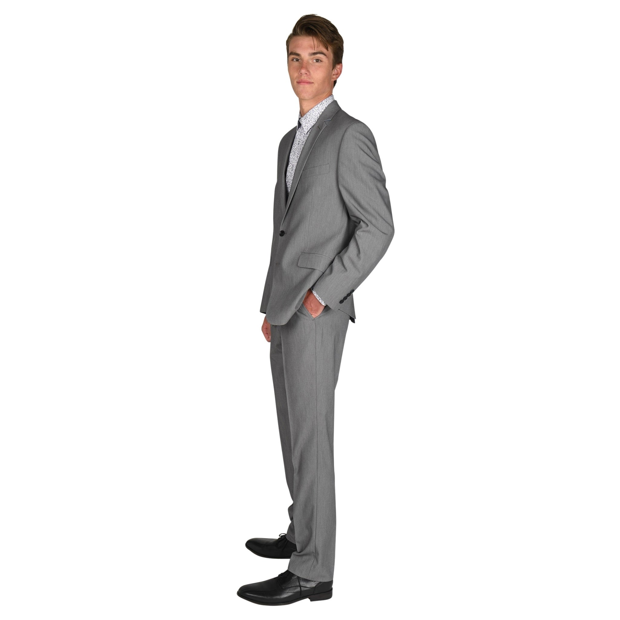 Billy London Mens Slim Fit Stretch 32 Finished Bottom Suit