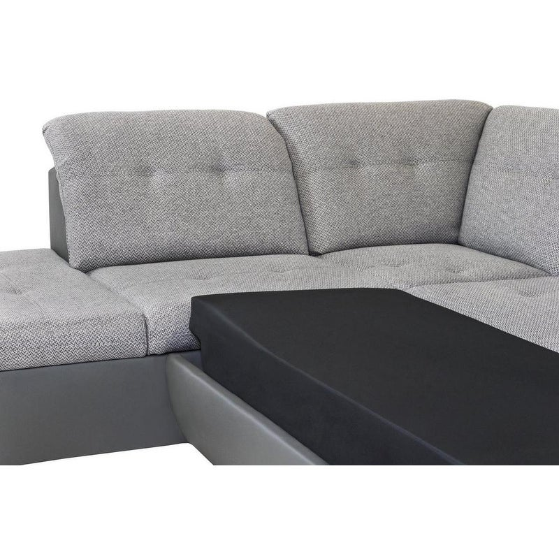 Details about Galaxy B Left-corner Sleeper Sectional Sofa Bed Grey