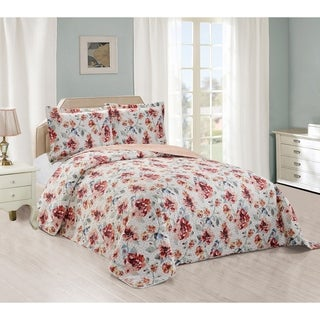 Fall Robin Reversible Quilted Bedspread & Shams Set