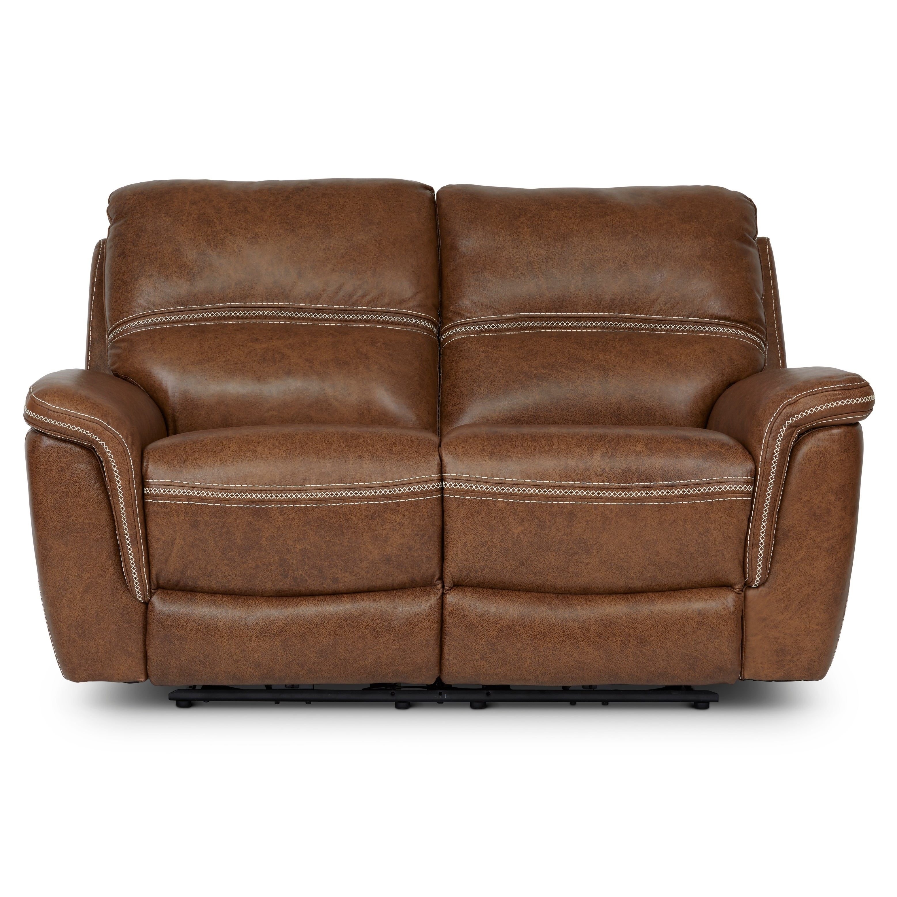 68 Inch Leather Sofa Baci Living Room