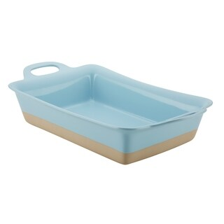Rachael Ray Collection Ceramic Baker, 9-Inch x 13-Inch, Light Blue