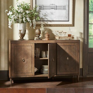 Monaco 3-Door Drawer Wood Sideboard Server Buffet by iNSPIRE Q Artisan