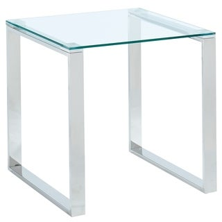 Glass/Chrome Accent Table