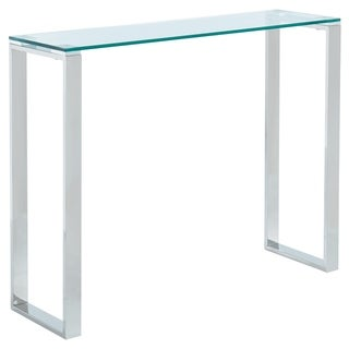 Glass/Chrome Console Table