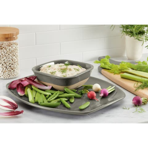 Rachael Ray Cityscapes Ceramic Hot Chip and Dip Set