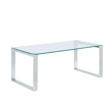 Glass/Chrome Coffee Table