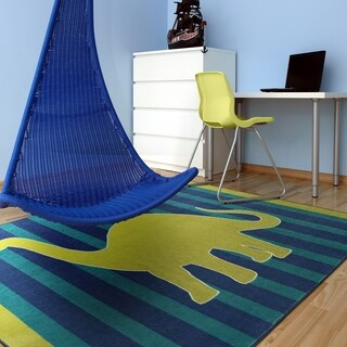 "Mohawk Aurora Friendly Dinosaur Kids Area Rug - 7'6"" x 10'"