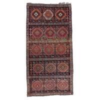 "Pasargad DC Russian Kazak Antique Lamb Wool Rug - 3'7"" X 7'3"""