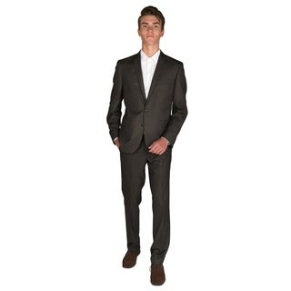 """Billy London 32"""" Finished Bottom Brown Textured Suit"""