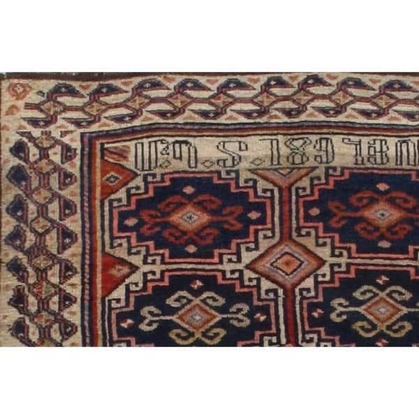 Antique Armenian Lamb Wool Rug