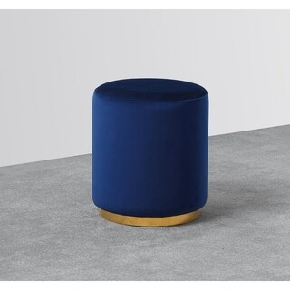 Best Master Furniture Navy Blue Upholstered Accent Stool