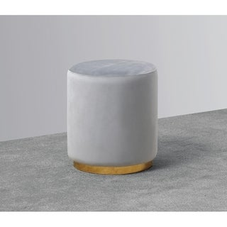 Best Master Furniture Grey Upholstered Accent Stool
