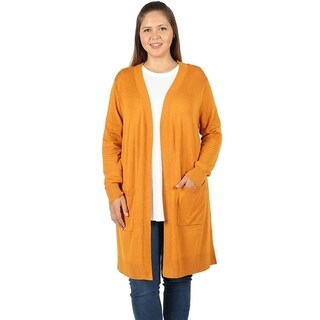 JED Women's Plus Size Soft Viscose Knit Cardigan