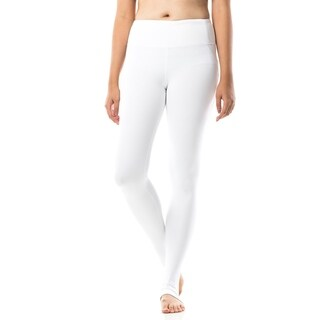 Figur Activ Full Length Yoga Legging with Mesh Style Lines and Ankle Slits