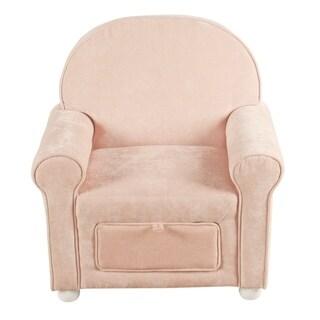 HomePop Kids Club Chair with storage - Pink Velvet