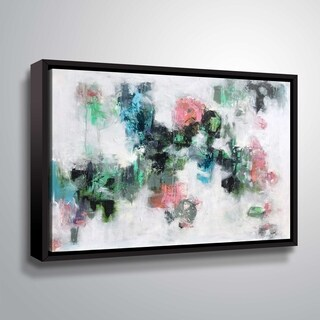 ArtWall Floral haze Gallery Wrapped Floater-framed Canvas - White
