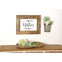 Reclaimed Heavily Distressed Barnwood 'Gather' Sign - 15 X 19