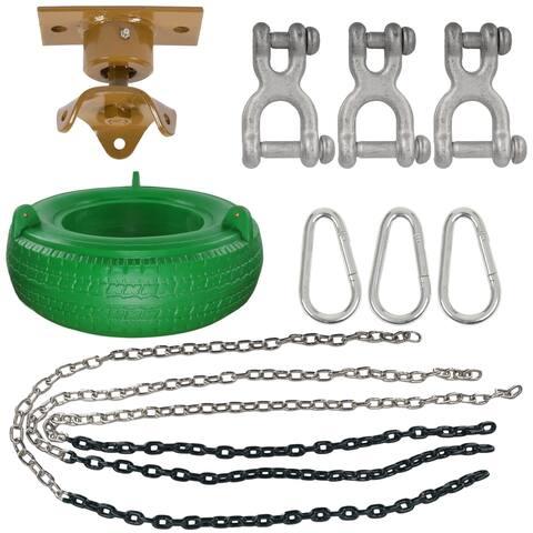 Swing Set Stuff Inc. Complete Tire Swing Kit with Heavy Duty Swivel