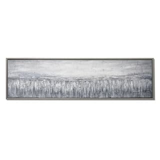 Landscape Hand Painted Framed Gallery Wrapped Canvas - Silver - 70.86 x 19.68