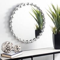 """Safavieh Eden Mirror - Silver Foil - 25"""" x 25"""" x 1.8"""""""