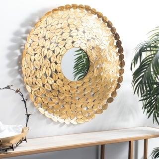 """Safavieh Bliss Gold 31-inch Round Decorative Mirror - 30.5"""" x 30.5"""" x 1"""""""