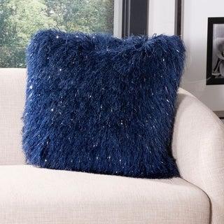 Safavieh Wavy Luxe Decorative Pillow- Navy
