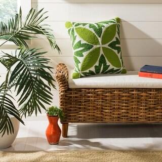 Safavieh Paradise Decorative Pillow- Green / White