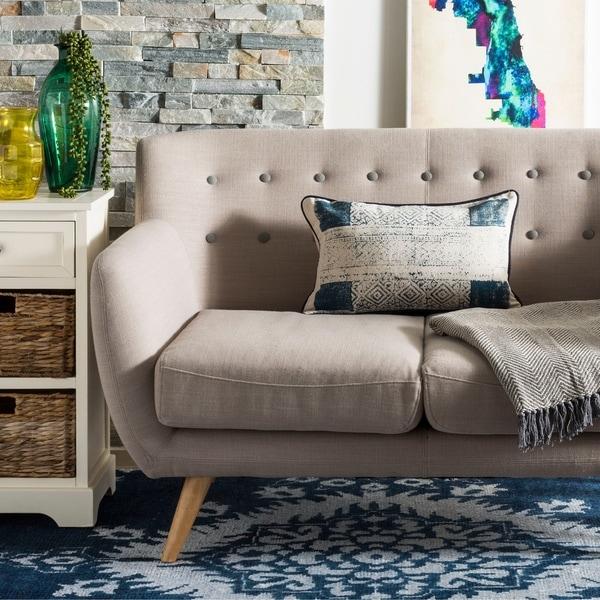 Safavieh Abena Decorative Pillow- Blue / Creme