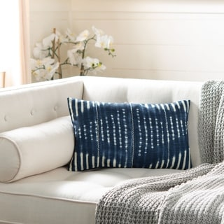 Safavieh Laurena Decorative Pillow- Navy / Creme