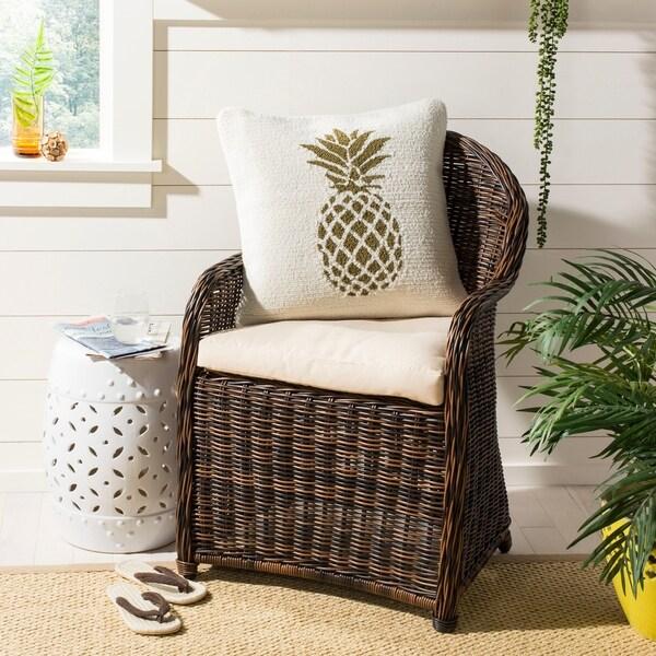 Safavieh Pure Pineapple Decorative Pillow- Gold / White