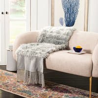 Safavieh Faux Fur Alexi Bed Runner- Grey