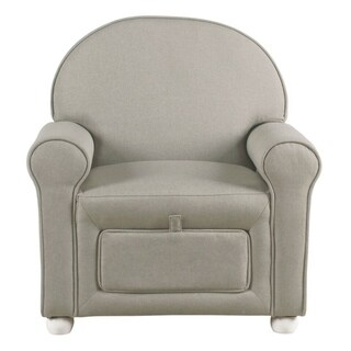 HomePop Kids Club Chair with storage - Stain Resistant Gray Fabric