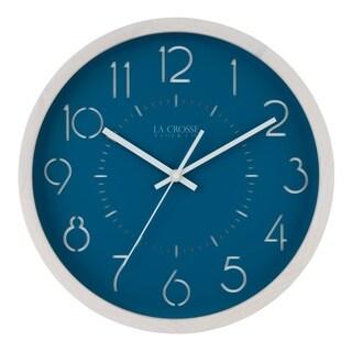 La Crosse Clock 404-3833 13-Inch Weekender Quartz Analog Wall Clock