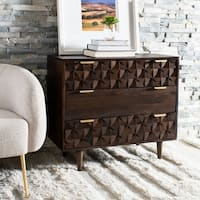 Safavieh Zinnia 3 Drawer Chest-Walnut