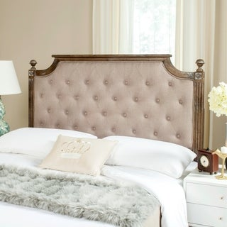 Shop Safavieh Rustic Wood Taupe Tufted Linen Queen ...