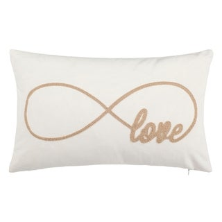 Safavieh Infinite Love Decorative Pillow- Beige