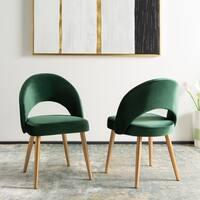 Safavieh Dining Giani Retro Malachite Green/ Gold Dining Chair (Set of 2)