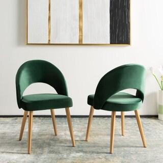 "Safavieh Giani Retro Dining Chair-Malachite Green / Gold (Set of 2) - 24.3"" x 21.3"" x 32"""