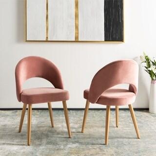 "Safavieh Giani Retro Dining Chair-Dusty Rose / Gold (Set of 2) - 24.3"" x 21.3"" x 32"""