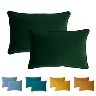 Sherry Kline Glendon Velvet Boudoir Pillows (Set of 2)