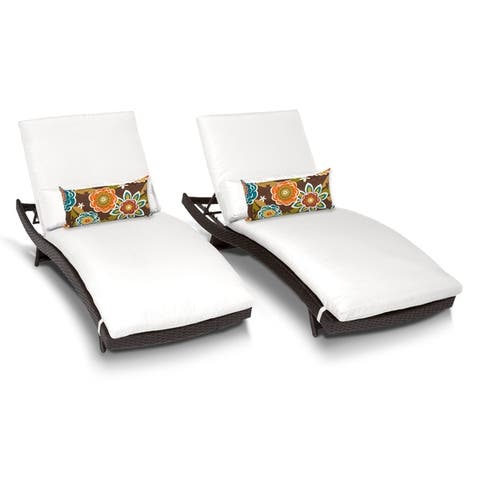 Buy White, wicker Outdoor Chaise Lounges Online at ...