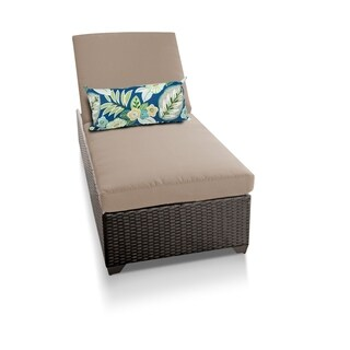 TK Classics Barbados Brown Wicker Chaise Lounge