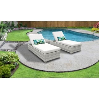 Chaise Lounge Rattan Sintetico.Buy White Wicker Outdoor Chaise Lounges Online At Overstock Our