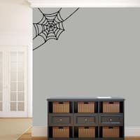 Corner Spider Web Wall Decal