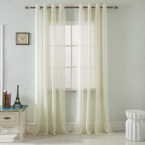 RT Designers Collection Spyder Lace 90-inch Grommet Single Curtain Panel