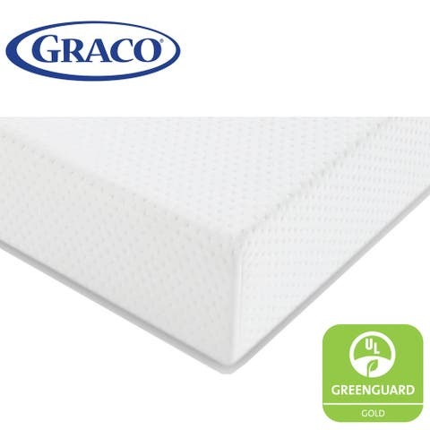 Graco Premium Foam Crib and Toddler Mattress (White) - Ships Compressed in Lightweight Box - White