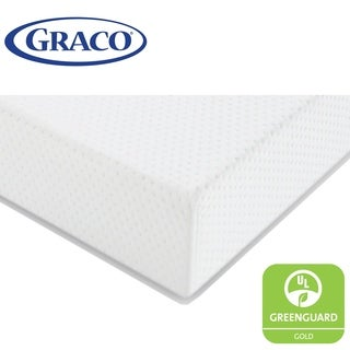 Graco Premium Foam Crib and Toddler Mattress, Water Resistant Breathable Foam Safe Sleep Mattress - White